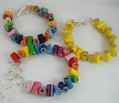 3 Custom Colored Pencil Adjustable Bracelets Jewelry - Great Artist, Teacher, Crafter, Student or Art Lover Gift - Rainbow