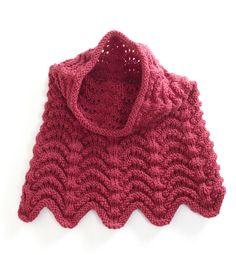 Knitted Cowl Hood in Lion Brand Vanna's Choice - 90551AD