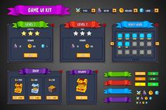 Find Game Ui Kit Fantasy stock images in HD and millions of other royalty-free stock photos, illustrations and vectors in the Shutterstock collection. Website Design Inspiration, Website Design Layout, Ui Kit, Business Brochure, Business Card Logo, Game Design, Web Design, Icon Design, Blockchain Game