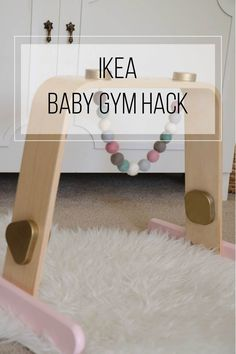 IKEA Hack: Wood Baby Gym