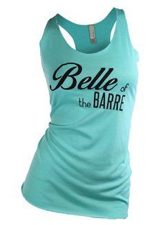 barre shirt. barre. barre tank top. barre tank. belle by missFITTE