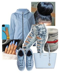 """""""Untitled #58"""" by queenag123 ❤ liked on Polyvore featuring Moncler, adidas and Michael Kors"""