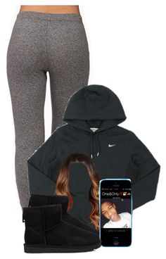 """""""Untitled #2301"""" by alisha-caprise ❤ liked on Polyvore featuring Forever 21, NIKE and UGG Australia"""