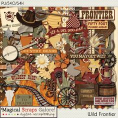 {Wild Frontier} Digital Scrapbook Kit by Magical Scraps Galore http://store.gingerscraps.net/Wild-Frontier.html http://www.scraps-n-pieces.com/store/index.php?main_page=product_info&cPath=66_152&products_id=7611#prettyPhoto
