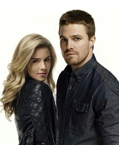 Emily Bett Rickards & Stephen Amell... two for the price of one in every episode of Arrow, sometimes they smooch... for that alone I would watch this show, lucky I'm also a dc fan. More like Oliver Squeee and Felicity Smokin' amirite?