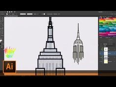 Create Empire State Building Line Art with Illustrator and the Shaper & Join Tools - YouTube