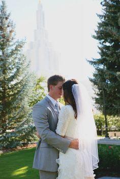 Lace Sleeves | Elbow Length | LDS | Modest Wedding Dress | Simply Elegant | simplyelegantforyou.com