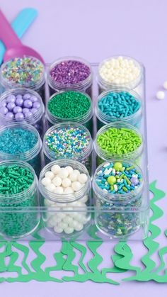 Our Assorted Sprinkle Mix gift box - bento box style - is perfect for your sprinkle collection or the bakers in your life. Contains 12 different sprinkles or mixes in individual containers! Diy Cupcake, Cupcake Party, Fruit Party, Luau Party, Mermaid Cupcakes, Kids Party Themes, Party Ideas, Mermaid Diy, Mermaid Parties