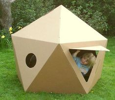 Paperpod produce a wide range of innovative cardboard toys and cardboard furniture including cardboard aeroplane, cardboard house, cardboard car and many more items. Cardboard Spaceship, Cardboard Playhouse, Cardboard Furniture, Cardboard Crafts, Cardboard Tubes, Indoor Playhouse, Build A Playhouse, Playhouse Ideas, Eco Kids