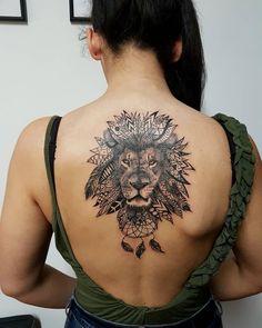 ornamental lion tattoo © 58RONINTATTOO 💗🙊💗🙊💗