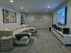 My TV room : malelivingspace – Christopher Sylvia – Hometheaters Cinema Room Small, Home Cinema Room, Home Theater Rooms, Small Media Rooms, Small Rooms, Basement Tv Rooms, Cozy Basement, Living Room Designs, Living Room Decor