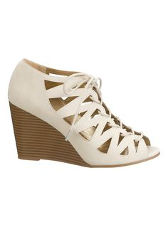 nude Lucy lace up wedge #maurices #spon @maurices