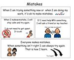 Making Mistakes social story