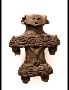 A clay figure   Jomon ancient period in Japan