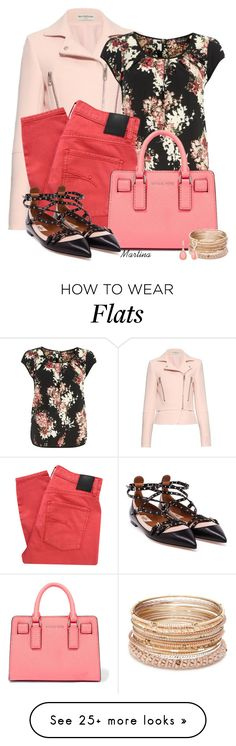 """""""Bez naslova #2465"""" by martina-cciv on Polyvore featuring Balenciaga, Dorothy Perkins, Nobody Denim, MICHAEL Michael Kors, Valentino, Red Camel and Vintage America Red Flats Outfit, Jean Outfits, Cool Outfits, Valentino Red, Nobody Denim, Complete Outfits, Balenciaga, Camel, What To Wear"""