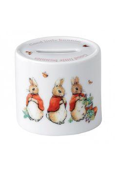 Wedgwood Peter Rabbit Girl's Money Box at Waterford Wedgwood Royal Doulton, San Marcos, TX or call 1-800-203-4540 or 512-396-4025.  We ship.