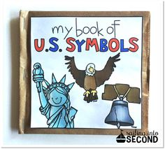 Symbols Paper Bag Book includes various hands-on ways to help your… Kindergarten Social Studies, Kindergarten Lessons, Teaching Social Studies, Classroom Crafts, Classroom Fun, American Symbols, American Flag, Teaching Activities, Teaching Resources