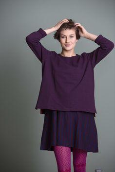 Gudrun Sjödéns Herbstkollektion 2014 - Das Lieblingsshirt aus Öko-Baumwolle ist ein gerade geschnittenes, bequemes Shirt aus festem Baumwolltrikot.