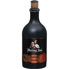 Cerveja Hertog Jan Dubbel, estilo Belgian Dubbel, produzida por Arcense Bierbrouwerij, Holanda. 7.3% ABV de álcool.