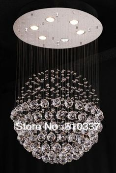 50cm New Spherical Crystal Chandelier Round Pendant Lamp Light Lighting ems free shipping #Affiliate