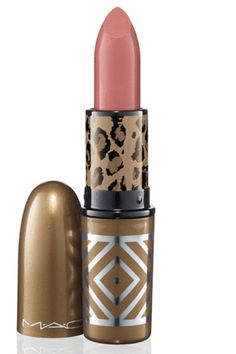 MAC Lipstick in Brave. Been wearing this color for years. It is hands down the best everyday color.  Love it!
