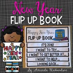 New Years 2016This New Years 2016 Flip Up Book is the perfect little activity for your students to be engaged as they return to school!  This activity encourages thoughtful writing as students reflect on last year and set new goals for the new year! It is easy to create with the printing instructions that are included.