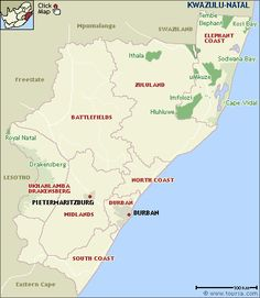 kwazulu-natal.gif (400×460) Kwazulu Natal, South Africa, African, Map, Wildlife, Dreams, Humor, Location Map, Maps