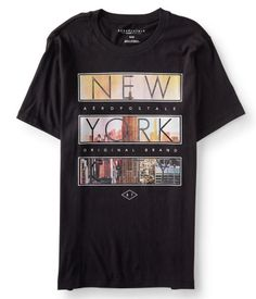 """The unmistakable sights, sounds and smells of the Big Apple beckon you to explore in our New York City Block Imagery Graphic T! Its super-soft fabric supplies a comfy feel all day long, and the cool graphics perfectly capture that bustling urban vibe.<br><br>Authentic fit. Approx. length (M): 28.5""""<br>Style: 1226. Imported.<br><br>100% cotton.<br>Machine wash/dry."""