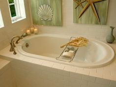 Garden Bathtub Decorating Ideas garden tub wall decor Garden Tub Decor