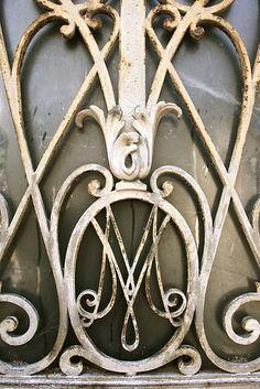Paris cemetery - ornate metal