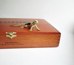 Your place to buy and sell all things handmade Cohiba Cigars, Small Storage Boxes, Pet Lizards, Wooden Cigar Boxes, Money Box, Desk Organization, Decorative Boxes, Paper Crafts, Fan