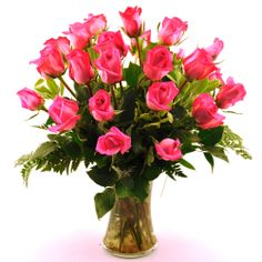 Sweets in Bloom 2 Dozen Pink Roses | Overstock.com Shopping - The Best Deals on Rose Bouquets