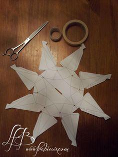 Une tirelire diamant pour le Téléthon :  http://www.frabieux.com/2014/11/une-tirelire-diamant-pour-le-telethon.html  #téléthon #diamant #origami #tirelire #charitybox #DIY