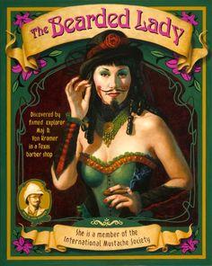 Bärtige Frau Zirkus Kostüm selber machen | Kostüm Idee zu Karneval, Halloween & Fasching