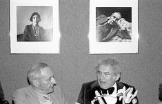 Awesome Photos of Writers Hanging Out via Flavorwire - William S. Burroughs and Norman Mailer