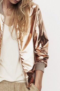 jacket bomber jacket metallic gold metallic jacket cream dress with silver sparkles shiny