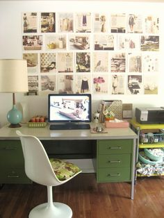 """Home Office Ideas Desk Office inspiration. Great Ideas to do with all our office wall space! """"Home Office Decorating Ideas Home Office Space, Home Office Decor, Office Ideas, Desk Space, Office Spaces, Desk Office, Office Furniture, Hallway Office, Office Setup"""