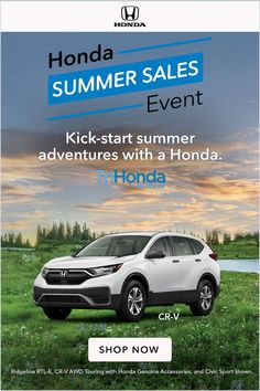 Every summer journey leads to another with a great deal on a Honda. Honda Crv, School Welcome Bulletin Boards, Best Compact Suv, Best Suv, The Third Person, Lux Cars, Music Library, Blue Books, Shopping