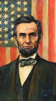 Portrait of President Abraham Lincoln. Was created using Gouache on Strathmore bristol board. American Revolutionary War, American Civil War, American History, Jack Kirby, Celebridades Fashion, Civil War Art, Us History, Ancient History, Civil War Photos