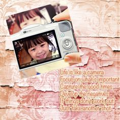 make text stand out on your digital scrapbooking layout