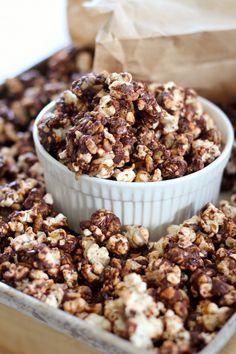 Eat Good 4 Life » Dark chocolate and peanut butter popcorn