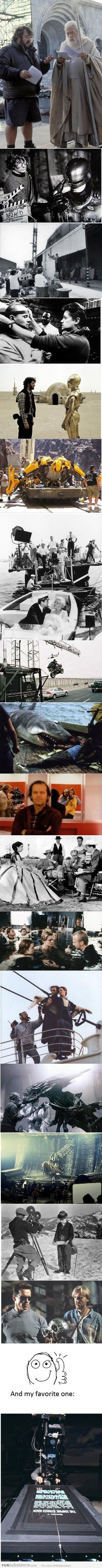 Epic 'Behind the scenes' photos.