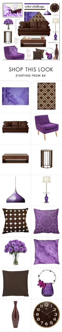 """Brown & Purple - Living Room"" by anyasdesigns ❤ liked on Polyvore featuring interior, interiors, interior design, home, home decor, interior decorating, Designers Guild, Christopher Knight Home, &Tradition and Barneys New York"