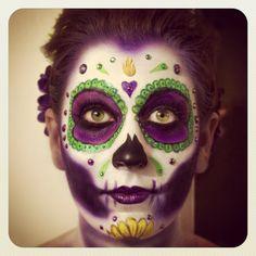 Day of the Dead Make-up.  Artist: Keaton Kohl Model: Ingrid Torgerson