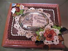 Martica Designs: Altered Cigar Box For Burlap Mini Album
