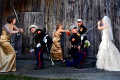 Military wedding? A unique photo op