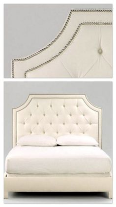 Ethan Allen Alison headboard, customize with fabric or leather! Can also do headboard alone Diy Furniture, Home N Decor, Bedroom Makeover, Home Bedroom, Bed Furniture, Home Decor, Diy Headboard Upholstered, Home Diy, Bedroom Headboard