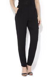 Black Crepe Tapered Trouser