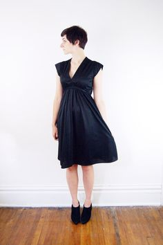 1970s Black Sleeveless Dress  S/M by LoveCharles on Etsy, $22.00