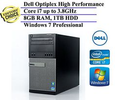 awesome Dell Optiplex 790 MiniTower Business High Performance Desktop Computer PC (Intel Quad-Core i7-2600 up to 3.8GHz, 8GB DDR3 Memory, 1TB HDD, DVDRW, Windows 7 Professional) (Certified Refurbished)